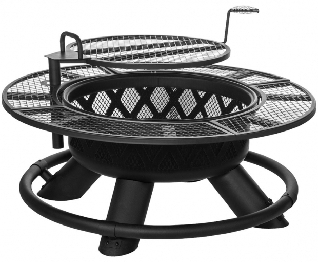 Amazing Fire Pit Ring With Grill Ranch Fire Pit With Grilling Grate Srfp96 Big Horn Outdoors Llc