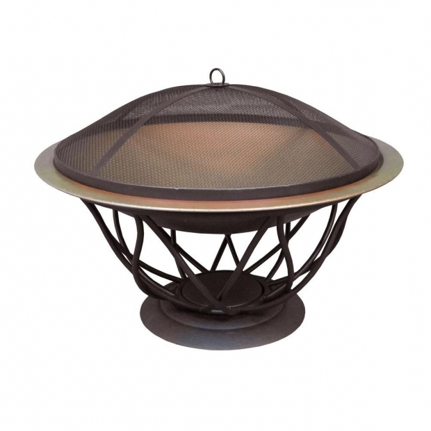 Amazing Home Depot Outdoor Fire Pit Hampton Bay Maison 30 In Copper Finish Bowl Fire Pit 25945 The