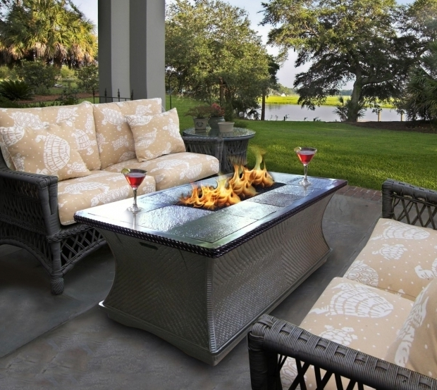 Amazing Patio Sets With Fire Pit Table Patio Ideas Patio Furniture Set With Fire Pit Table And Rattan