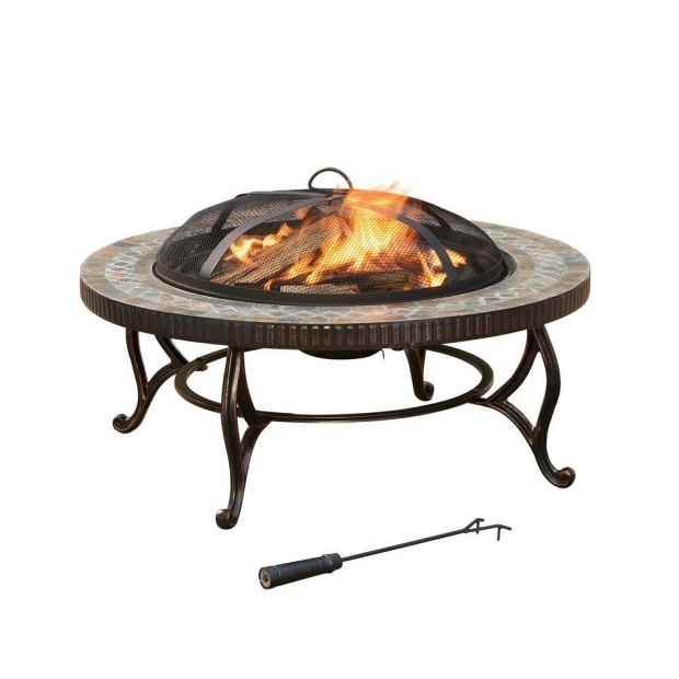 Amazing Portable Fire Pit Home Depot Pleasant Hearth Elizabeth 34 In Round Slate Fire Pit Ofw103ri