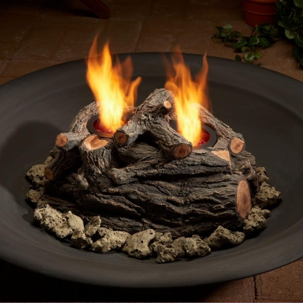 Awesome Fake Fire Pit Real Flame 10 Inch 2 Can Outdoor Gel Fuel Fire Pit Log Set Oak