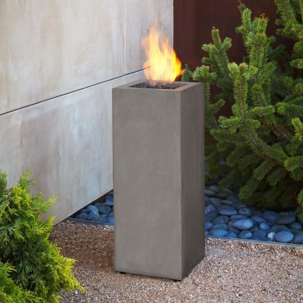 Awesome Fire Pit Column Real Flame Baltic 13 Inch Propane Gas Fire Pit Column Glacier