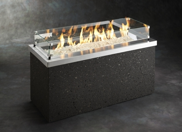 Awesome Fire Pit Glass Beads Outdoor Greatroom Key Largo Faux Stone48 X 19625 Rectangular