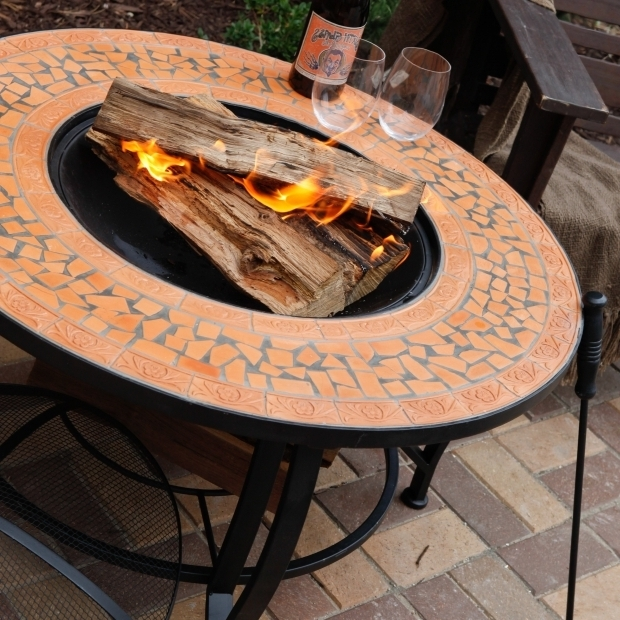 Beautiful Terra Cotta Fire Pit Spanish Sun Terra Cotta Mosaic 36 Inch Round Fire Pit At Hayneedle