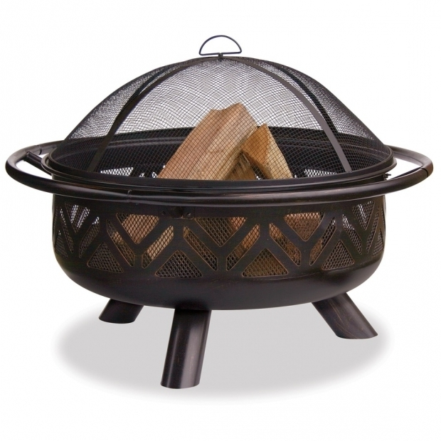 Delightful Blue Rhino Fire Pit Shop Blue Rhino 36 In W Bronze Steel Wood Burning Fire Pit At