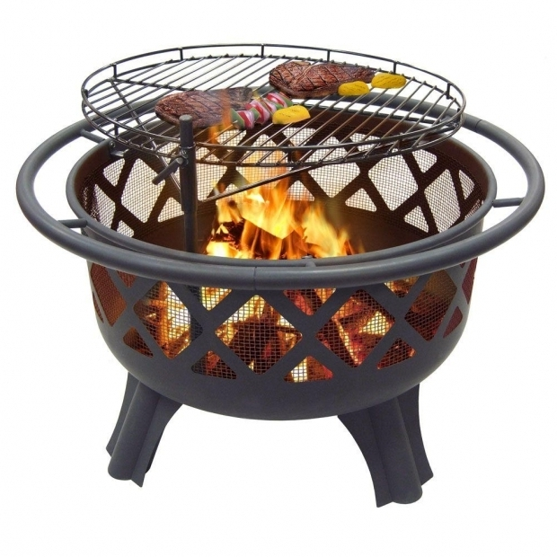 Fantastic Cooking Grate For Fire Pit Hampton Bay Crossfire 2950 In Steel Fire Pit With Cooking Grate