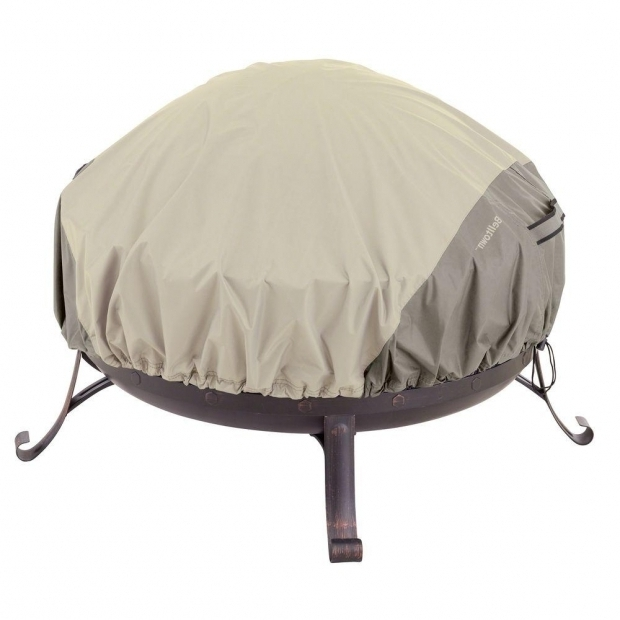 Fantastic Home Depot Fire Pit Cover Classic Accessories Belltown 44 In Sidewalk Grey Round Patio Fire