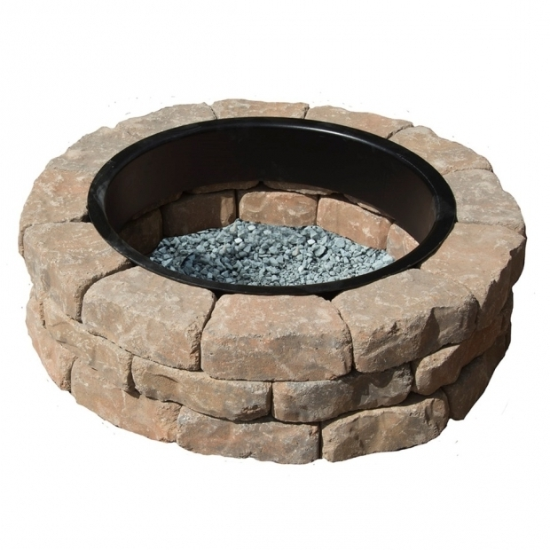 Fascinating Lowes Fire Pit Kit Shop Tanbrown Kit At Lowes
