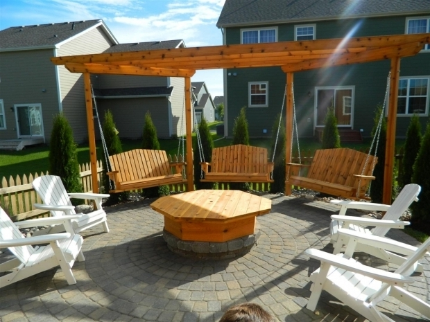 Fascinating Swings Around Fire Pit Evermoor Landscape Contractor Devine Design Hardscapes For The