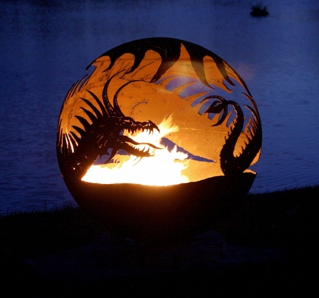 Gorgeous Globe Fire Pit Pendragons Hearth Dragon Fire Pit 37 The Fire Pit Gallery