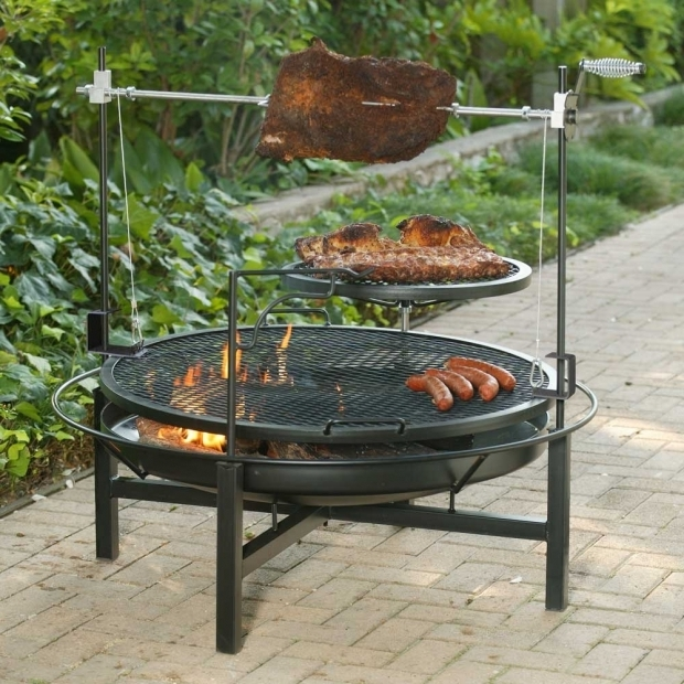 Image of Fire Pit Cooking Accessories Garden Preparing Outdoor Fire Pit Cooking Accessories For Party
