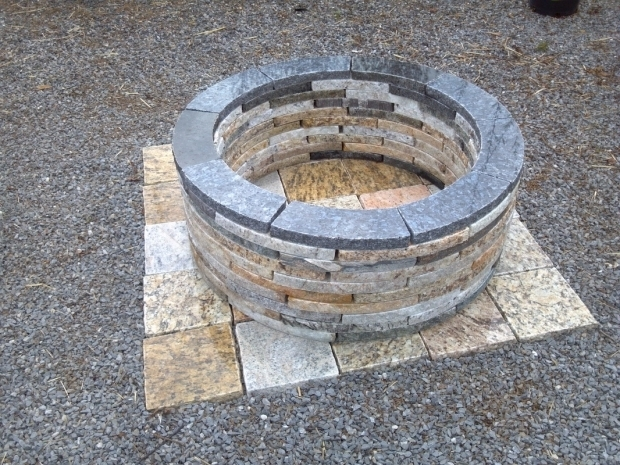 Image of Fire Pit Dimensions Recycled Granite Fire Pit Kit