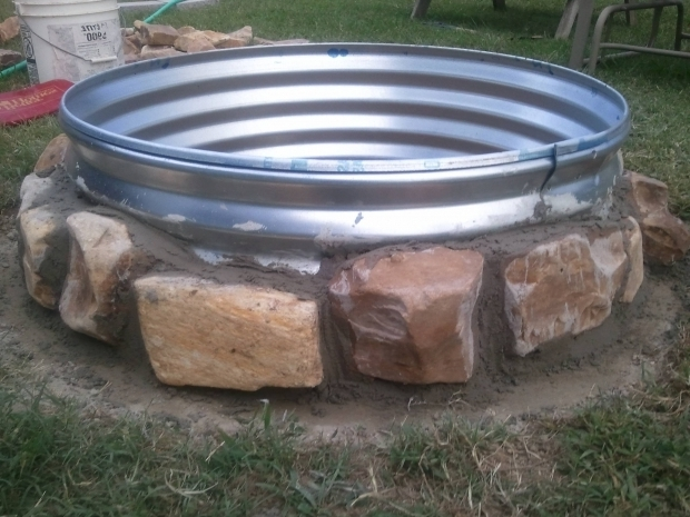 Image of Galvanized Fire Pit Ring 36x 12 Galvanized Fire Pit Ring 38 At Rural Kingriver Rock