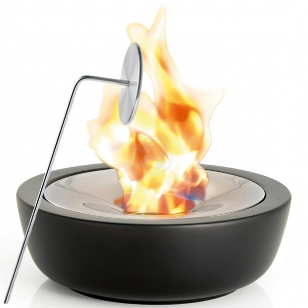 Image of Gel Fire Pit Ceramic Gel Fire Pit With Inox Steel Snuffer Blomus Fuoco L