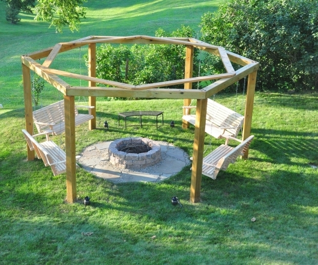 Image of Hanging Fire Pit Porch Swing Fire Pit 12 Steps With Pictures