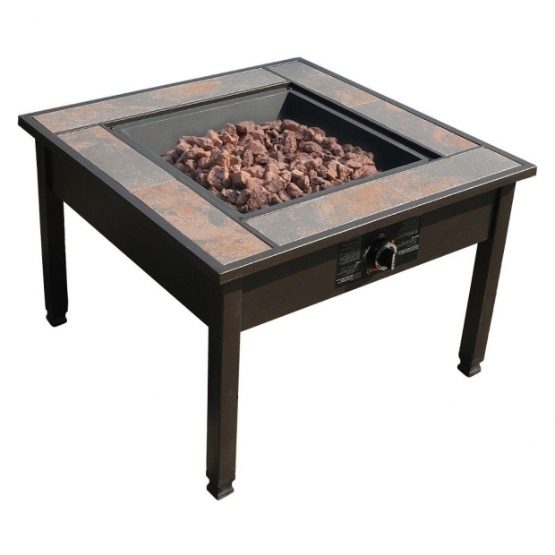 Image of Leisurelife Fire Pit 30 Ceramic Tile Table Top Lp Gas Fire Pit Square Leisurelife