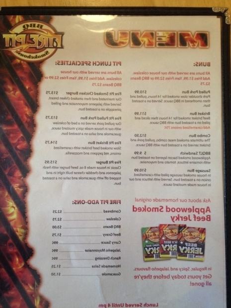 Incredible Fire Pit Menu Fire Pit Bbq Smokehouse Menu Menu For Fire Pit Bbq Smokehouse