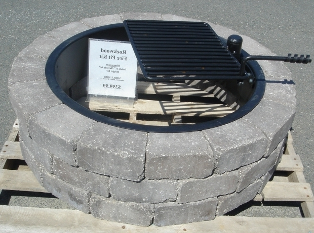 Incredible Fire Pit Ring With Grill Concrete Block And Brick Products