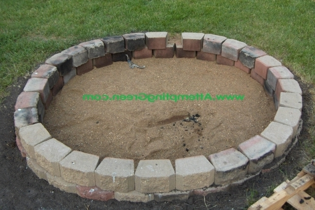Inspiring Fire Bricks For Fire Pit How To Build A Simple Backyard Fire Pit