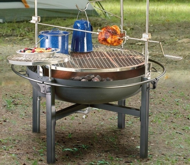 Inspiring Fire Pit Grille Selfmade Cowboy Fire Pit Grill Cowboy Fire Pits Grill