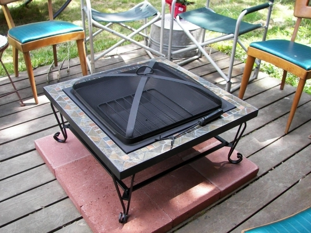 Inspiring Fire Pit On Wooden Deck Fire Pit Pad Wood Deck Fire Pit Pinterest Fire Pits Decks