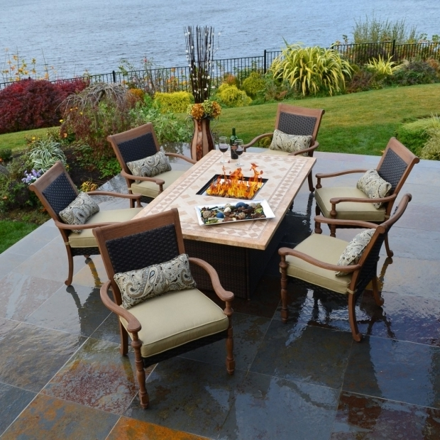 Inspiring Patio Sets With Fire Pit Table Style Of Outdoor Fire Pit Table Outdoor Designs