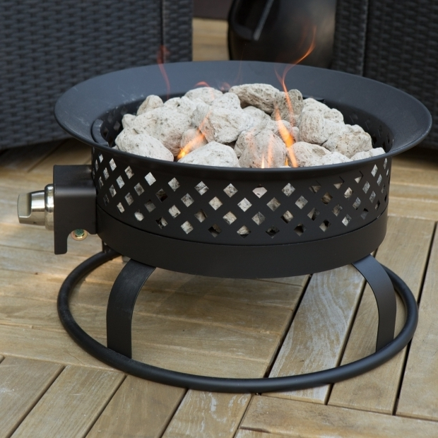 Inspiring Propane Fire Pit Camping Bond 185 In Portable Propane Campfire Fire Pit Dark Bronze