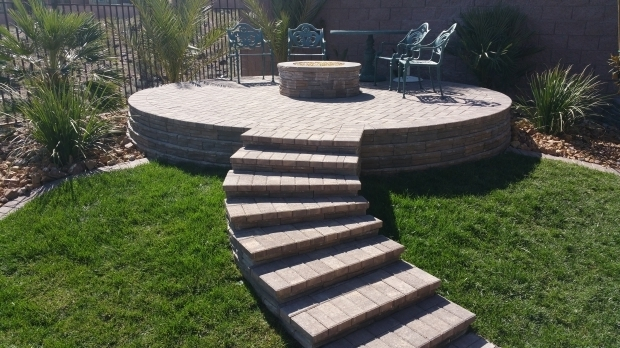 Inspiring Raised Fire Pit Custom Fire Pits And Water Features Las Vegas Pool Builder