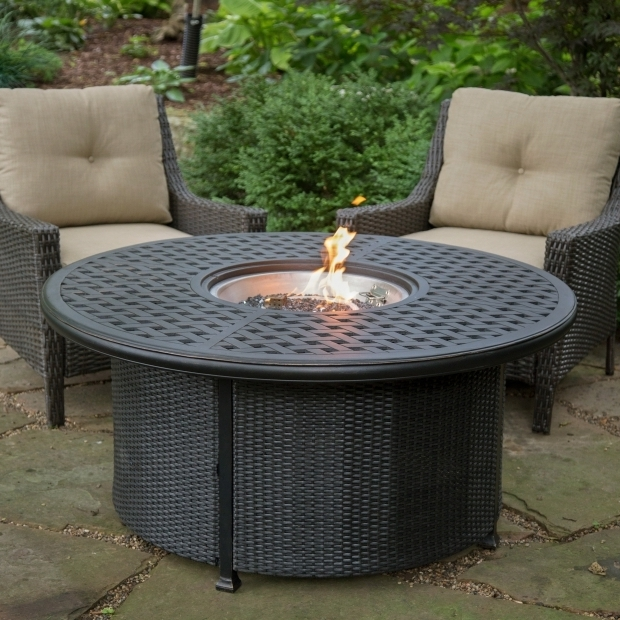 Inspiring Round Propane Fire Pit Table Red Ember Fremont 52 In Round Propane Fire Pit With Wicker Base