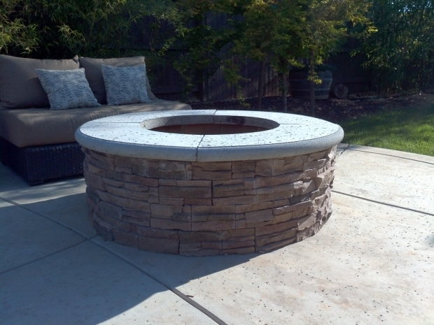 Marvelous Building A Stone Fire Pit How To Build A Fire Pit With Stone Veneer Facing Diy Add A Bbq