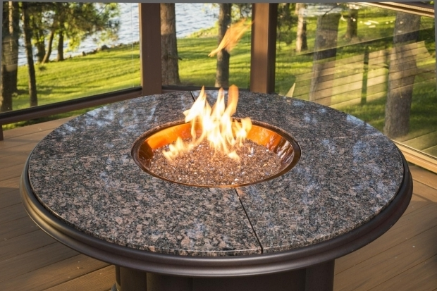 Marvelous Fire Pit Glass Beads Patio Ideas Round Propane Fire Pits Table With Little Glass Beads