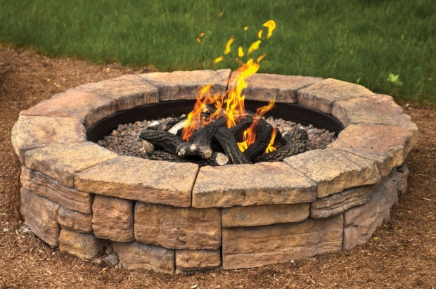 Marvelous Stone Fire Pit Kit Rosetta Round Outdoor Fire Pit Kit