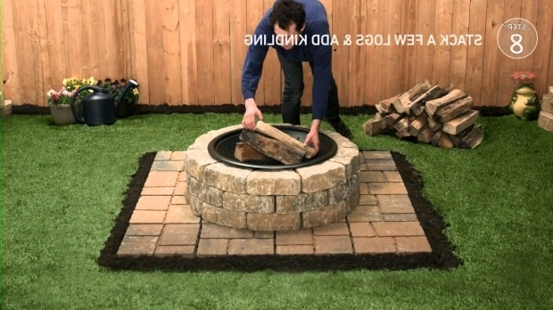 Outstanding Fire Pit Bricks Lowes Lowes Firepit Tap Thru How To Youtube