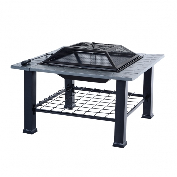 Outstanding Fire Pits Under $100 Outsunny 32 Outdoor Fire Pit Cooking Grill Combo Black Items