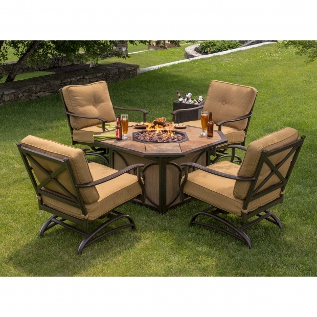 Outstanding Frontgate Fire Pit Berkley Jensen 5 Piece Fire Pit Set With Cushioned Rockers