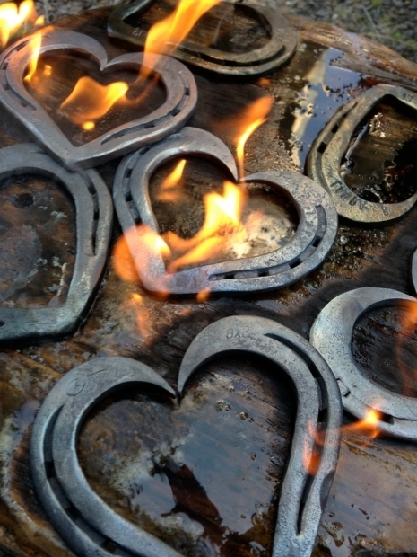 Outstanding Horseshoe Fire Pit Horseshoe Heart Iron Anniversary Gift 6th Anniversary Gift