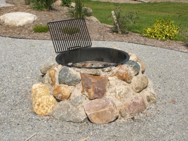 Outstanding How To Make A Fire Pit With Rocks Field Stone Firepit Fire Pit Using Granite Boulders Built Into