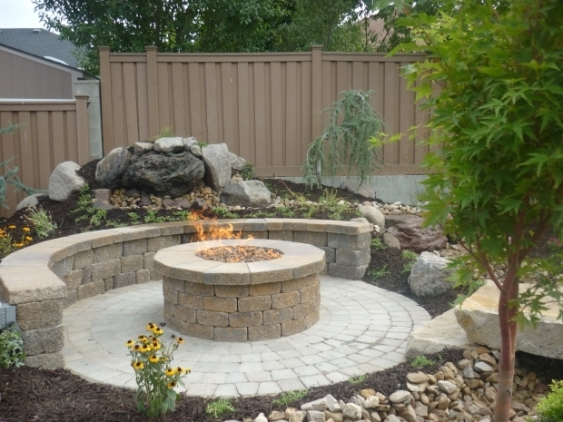 Outstanding Raised Fire Pit Concrete Grill Pad Area Circular Paver Patio With Fire Pit