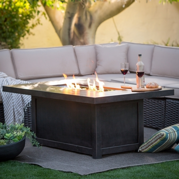 Outstanding Rectangle Fire Pit Table Napoleon Rectangle Propane Fire Pit Table Fire Pits At Hayneedle
