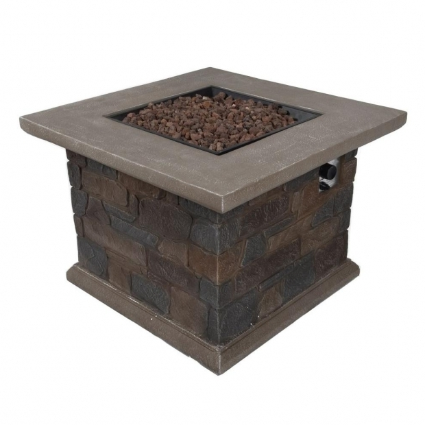 Picture of Bond Manufacturing Fire Pit Bond Manufacturing Corinthian 34 In Square Envirostone Propane