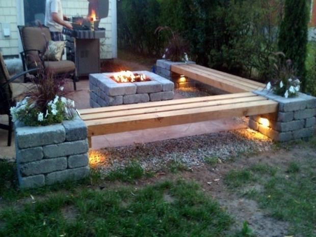 Picture of Fire Pit Bench Ideas Back Patios Rustic Patio Fire Pit Patio With Fire Pit Bench Ideas