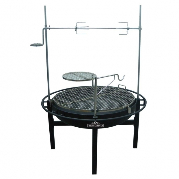 Picture of Fire Pit Rotisserie Rivergrille Cowboy 31 In Charcoal Grill And Fire Pit Gr1038