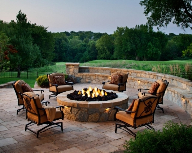 Picture of Raised Fire Pit Designing A Patio Around A Fire Pit Diy