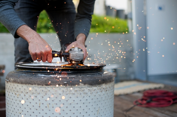 Picture of Washer Drum Fire Pit How To Turn An Old Washing Machine Drum Into A Fire Pit Digital