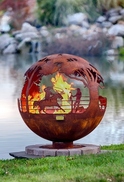 Remarkable Horseshoe Fire Pit Round Up 37 Ranch Fire Pit Sphere With Flat Steel Base