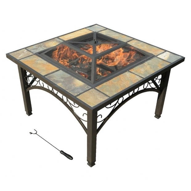 Remarkable Leisurelife Fire Pit Leisurelife 33 Cortona Square Slate Fire Pit Brown Slate Fire