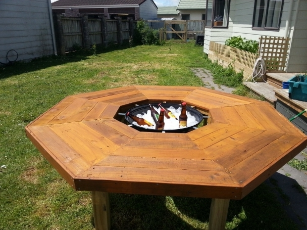 Remarkable Pallet Fire Pit I Have Created An Ice Bucketfire Pitbbq Table Ice And Tables
