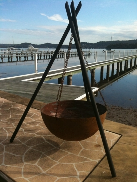 Stunning Hanging Fire Pit The Tripod Fire Pit Connollys Timber Flooring And Decking Melbourne