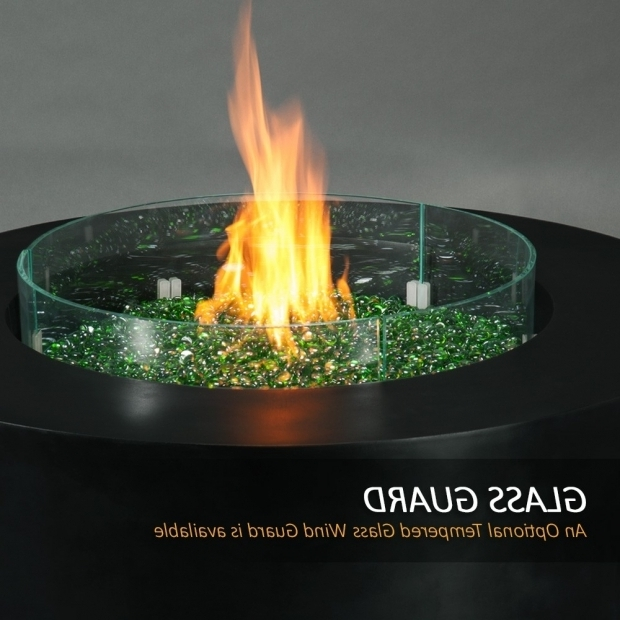 Wonderful Fire Pit Glass Beads Metro Round Fire Pit Graphite Finish