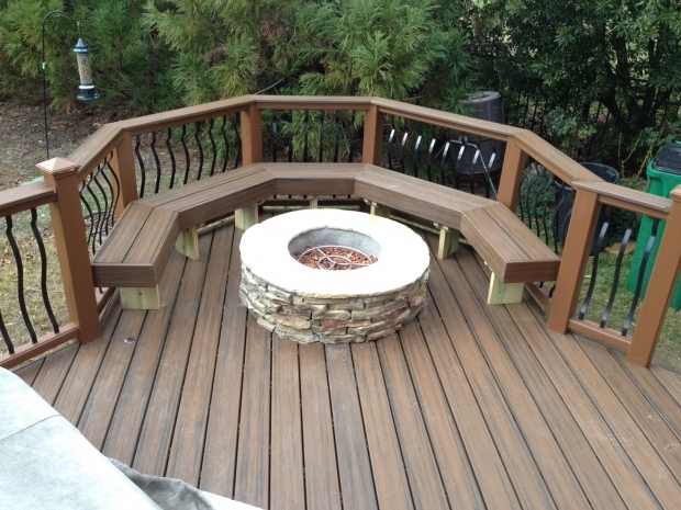 Wonderful Fire Pit On Wooden Deck Archadeck Of Charlotte Built This Trex Transcends Spice Rum